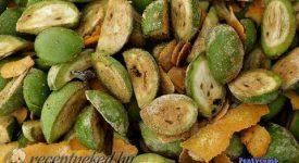 zöld dió pálinka receptje